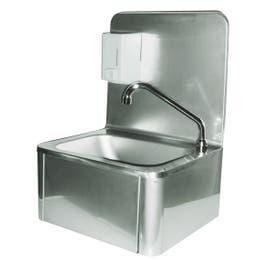 Lave-mains inox avec dosseret - A commande fémorale