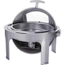 Chaffing dish rond - couvercle rotatif Roll Top - 510x540x480 mm