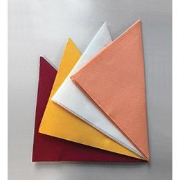 Serviette marron, micro gaufrée avec 2 plis - 38x38cm