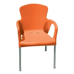 Chaise Eva - orange - 55 x 52 x 85 cm