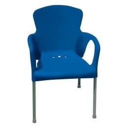 Chaise Eva - bleu foncé - 55 x 52 x 85 cm