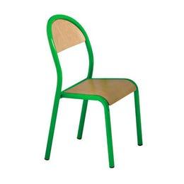 Chaise Bengal verte - assise en hêtre multiplis - épaisseur 8 mm
