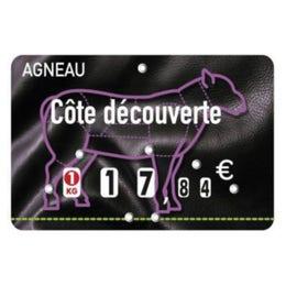Etiquettes Presto prix - pique inox - Agneau - 12x8 cm