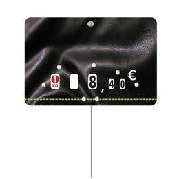Etiquettes Presto prix - pique inox - Neutre - 10,5x7 cm