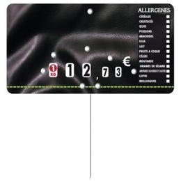 Etiquettes Presto prix - pique inox - Allergènes - 13x7cm