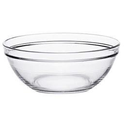 Saladier Lys en verre transparent de 3,4L - ø260x106mm