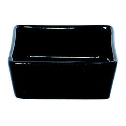Mini coupelle carrée en porcelaine noire - 70x70 mm