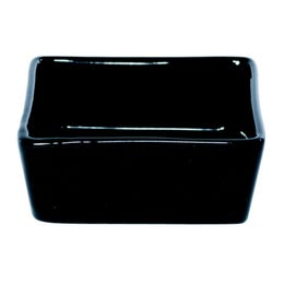 Mini coupelle carrée en porcelaine noire - 58x58 mm
