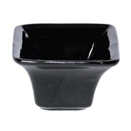 Mini coupelle évasée en porcelaine noire - 58x58 mm