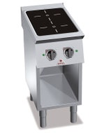 2 zones induction - 730 x 400 x 900 mm