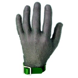 Gant en cotte de maille  taille XS sangle verte