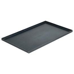 Plaque bords droits tôle d'acier 600x400 mm