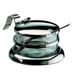 Saupoudreuse bouchon plat - inox - dimensions : 13,5 x 7,5 cm