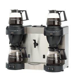Machine à café + eau chaude m202w - noir - 620 x 380 x 460