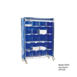 Housse bleu de chariot 910 mm