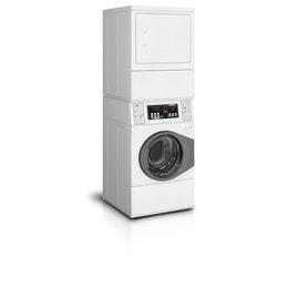 Colonne de lavage/séchage blanche (10kg) - 683x704x1986mm