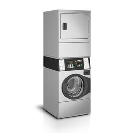 Colonne de lavage/séchage (10kg) - inox - 683 x 704 x 1986 mm