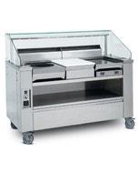 Show-cooking Visio 3 postes - inox - 1115 x 1264 x 761 mm