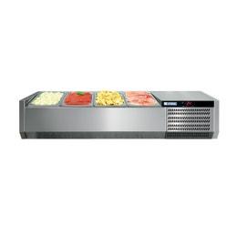Console réfrigérée GN1/3 - sans vitrage - 2560 x 395 x 225 mm