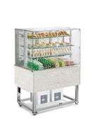Desserte vitrine ventilée 3 GN1/1 - Hemlock - 1169x760x1680 mm