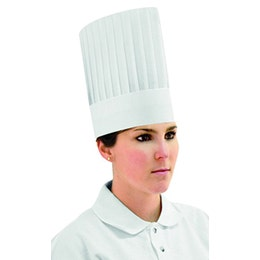 Toque non tissée droite polyester blanc 250 mm