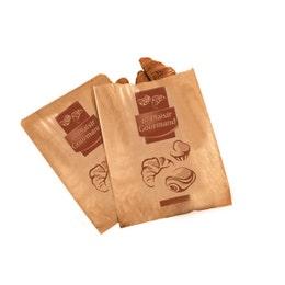 Sac croissant 120/25+25x170 mm 1/2 croissants