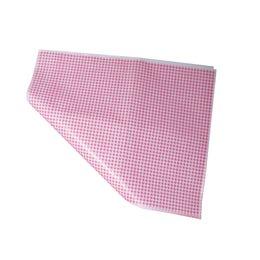 Papier boucherie Duplex - Décor Vichy rose - 32 x 50 cm
