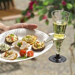 Clips d'assiette pour verres à pied