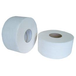 Papier toilette gaufré - Mini Jumbo - 2 plis collés