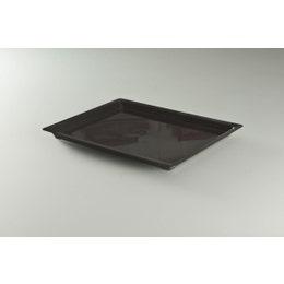 Plateau injecté cristal prestige noir grand modèle 35x27,5x2 cm