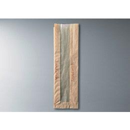 Sac à sandwich kraft brun avec fenêtre 10+5 x 36 cm