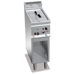 Friteuse gaz 8 litres sur meuble - 600 x 300 x 900 - 6,6 kw