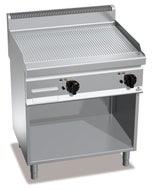 Plancha gaz rainurée double + meuble  - 700 x 800 x 900mm