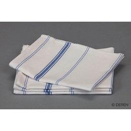 Torchon 50% lin - 50% coton blanchi