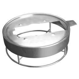 Support en acier finition brossé pour chafing dish Evento