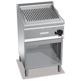 Grill pierre de lave gaz double + meuble - 80 kg - 8 kw