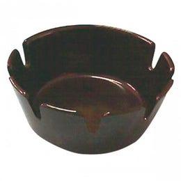 Cendrier noir incassable en mélamine d'un diametre de 100mm