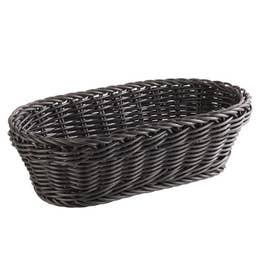 Corbeille ovale 28x16 cm - Noire