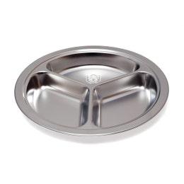 Assiette 3 compartiments - Inox - Diamètre 20cm
