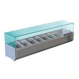 Vitrines à ingrédients VRX 150 - 7 bacs - 1500x335x435 mm