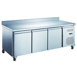 Table réfrigérée avec dosseret - 3 portes