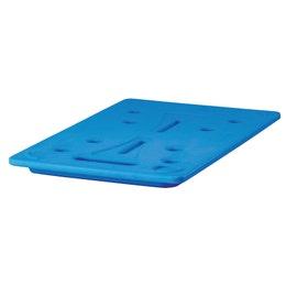 Plaque eutectique GN 1/1 325x530x30 mm bleu glacier