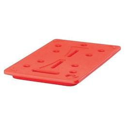 Plaque chaude GN 1/1 325x530x30 mm rouge