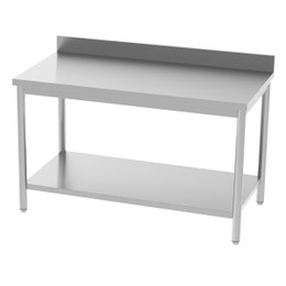 Table adossée - avec étagère - 1200x700x850/900 mm