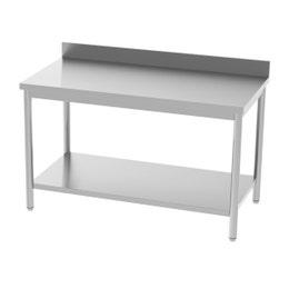 Table adossée - avec étagère - 1400x700x850/900 mm
