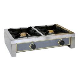 Réchaud traiteur - 2 feux - 670 x 510 x 180 mm