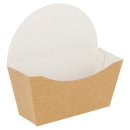 Boîte bagel scoop marron - 12 x 6 x 12