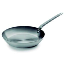 Poêle cuisson haute temperature en inox de 24cm de diametre