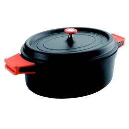 Faitout ovale en fonte - 3,5 L - noir