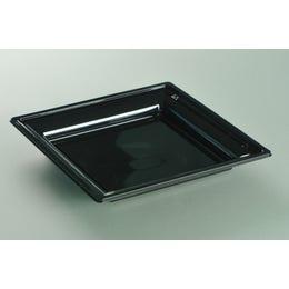 Assiette thermoformée noire de 180 x 180 mm
